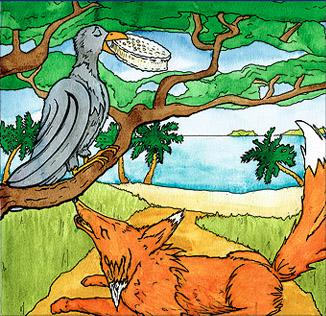 Le corbeau et le renard en Tahitien